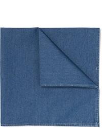 Brunello Cucinelli Cotton Chambray Pocket Square