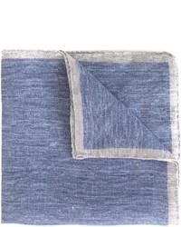Eleventy Contrast Stripe Pocket Square
