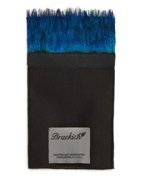 Brackish & Bell Peacock Feather Pocket Square
