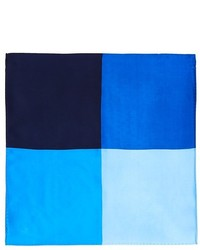 The Store At Bloomingdales Colorblock Silk Pocket Square