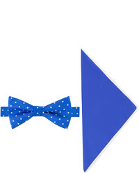Asstd National Brand Glow In The Dark Dot Bow Tie And Pocket Square Set