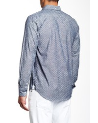97a3d6a29d2 ... Barque Polka Dot Long Sleeve Chambray Shirt ...