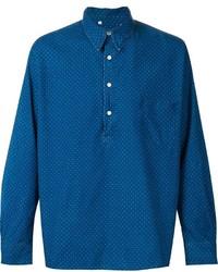 Vintage clothing polka dot denim shirt medium 355125