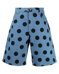 Moschino Polka Dot Denim Shorts