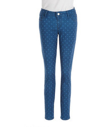 GUESS Brittney Polka Dot Skinny Ankle Jeans