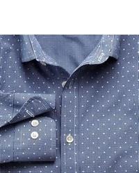 Charles Tyrwhitt Blue Gingham Polka Dot Slim Fit Shirt