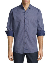 English Laundry Dot Print Sport Shirt Navy