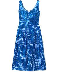 Marni Polka Dot Cupro Dress