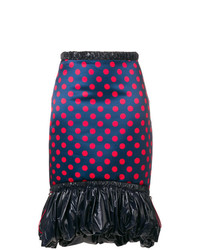 Mary Katrantzou Polka Dot Midi Skirt With Puffed Hem