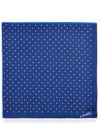 Lanvin Four Color Polka Dot Pocket Square