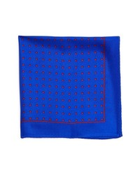 Original Penguin Lexington Dot Silk Pocket Square Blue One Size