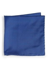 Brioni Silk Square Dot Pocket Square
