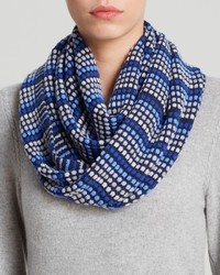 Aqua Dot Stripe Loop Scarf Bloomingdales