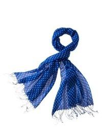 Saison Limited Merona Classic Dot Scarf Blue