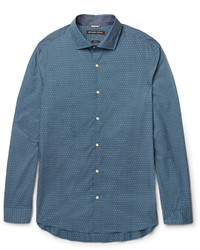 Michael Kors Michl Kors Slim Fit Polka Dot Cotton Poplin Shirt