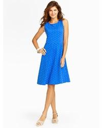 Edie polka dots fit and flare knit dress medium 269580