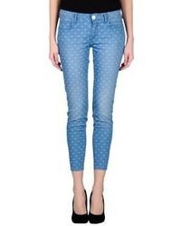Blue Polka Dot Skinny Jeans