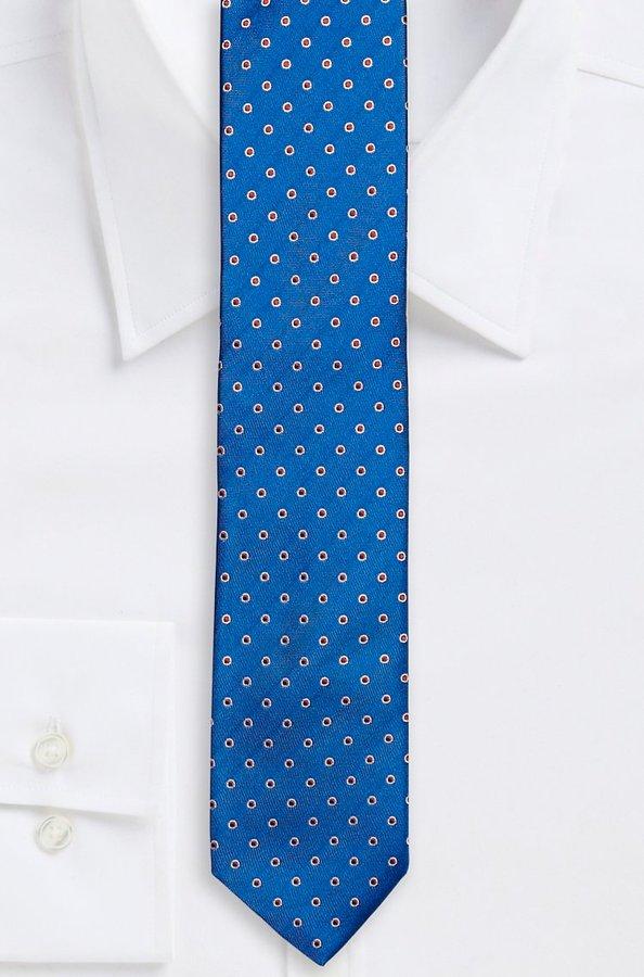 2c79c2bf94e7 ... Hugo Boss 6 Cm Tie Slim Italian Silk Polka Dot Tie Bright Blue
