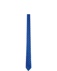Paul Smith Blue Fluorescent Spot Tie