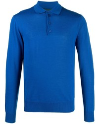 Emporio Armani Long Sleeved Knitted Polo Shirt