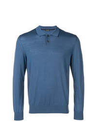 Z Zegna Longsleeved Polo Shirt