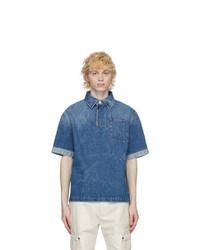 Fendi Blue Denim Light Wash Polo
