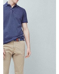Mango Outlet Cotton Piqu Polo Shirt
