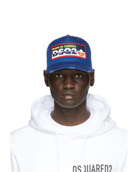 DSQUARED2 Blue Logo Patch Baseball Cap