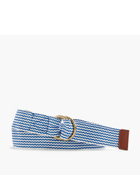 J.Crew Woven Belt In Chevron Print