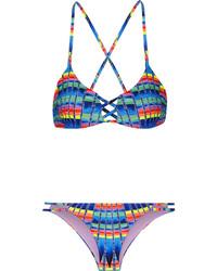 Mara Hoffman Printed Bikini Azure
