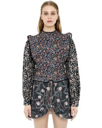 Isabel Marant Open Back Floral Printed Quilted Top