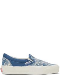 Vans Blue Og Classic Slip On Lx Sneakers