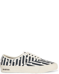 J.Crew Seavees Printed Canvas Sneakers Navy