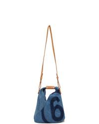 MM6 MAISON MARGIELA Blue Denim Mini Japanese Tote