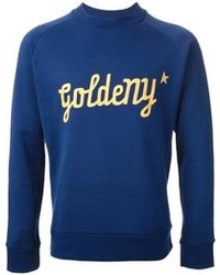 Blue Print Crew-neck Sweater