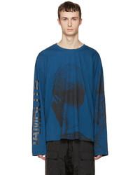 Blue printed t shirt medium 1195983