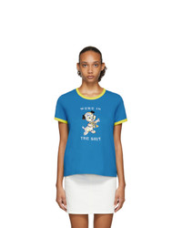 Marc Jacobs Blue Magda Archer Edition The Collaboration T Shirt