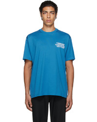 Burberry Blue Oversized Location Print T Shirt
