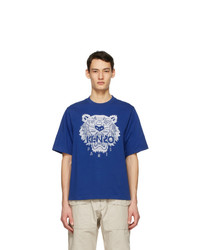 Kenzo Blue Oversized Tiger T Shirt