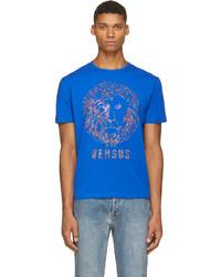 Blue rainbow stud lion logo t shirt medium 200678