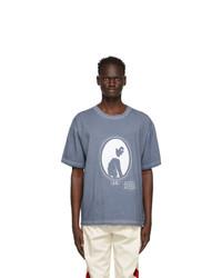 Maison Margiela Blue Silhouette Print T Shirt