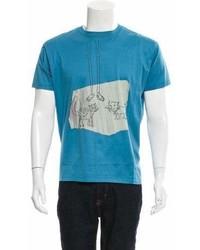 Lanvin Graphic Print Crew Neck T Shirt