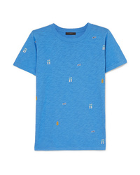 J.Crew Tossed Printed Slub Cotton Jersey T Shirt