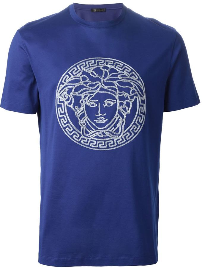 9ddae923 Versace Embroidered Medusa T Shirt, $451 | farfetch.com | Lookastic.com