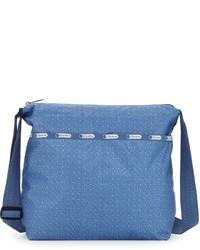Le Sport Sac Lesportsac Cleo Denim Print Crossbody Bag Denim Pique