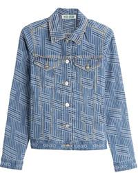 Blue Print Denim Jacket