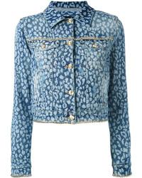 Philipp Plein Animal Print Denim Jacket