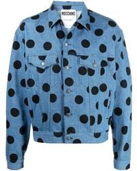 Moschino Polka Dot Denim Jacket