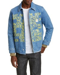 A.P.C. X Brain Dead Imhotep Denim Jacket With Zip Out Liner