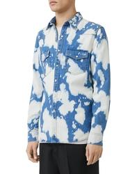 Burberry Bleach Denim Slim Fit Western Shirt